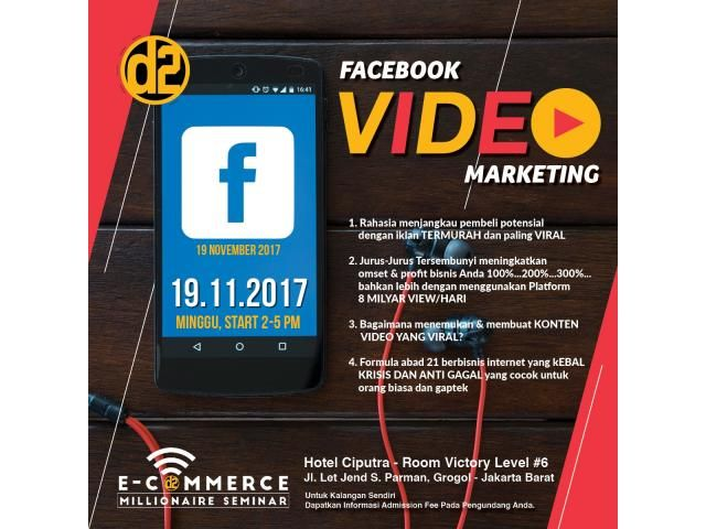Event Seminar Facebook Video Marketing