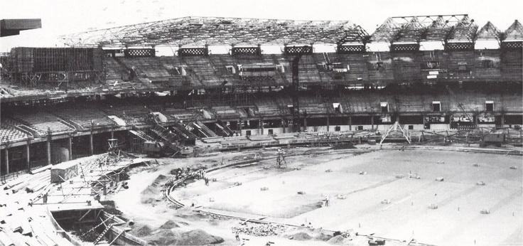 Pembangunan awal Stadion Gelora Bung Karno