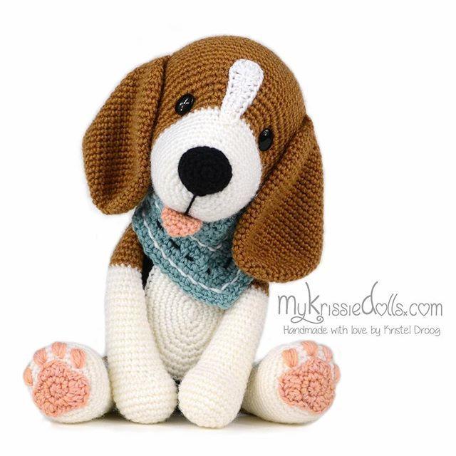 Crochet pattern keychain cute Beagle puppy. Crochet your own ... | 640x640
