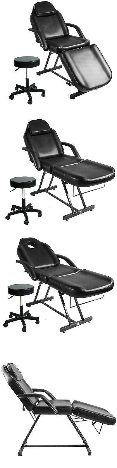 Stylist Stations and Furniture: Adjustable Hydraulic Massage Bed Chair W Stool Beauty Spa Tattoo Salon Equipment -> BUY IT NOW ONLY: $150.99 on eBay!