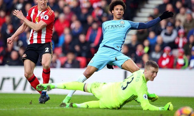 Sunderland 0-2 Manchester City: Aguero and Sane heap misery on Moyes #DailyMail
