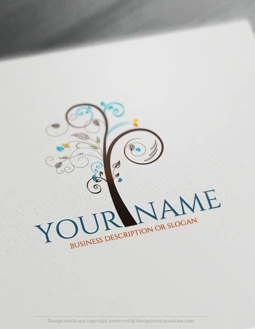 Design Free Logo: Art Tree Logo Templates