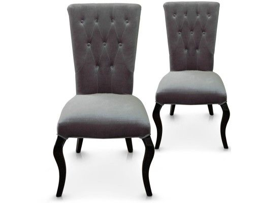 lot de 2 chaises beata gris 39 salem 39 s lot. Black Bedroom Furniture Sets. Home Design Ideas