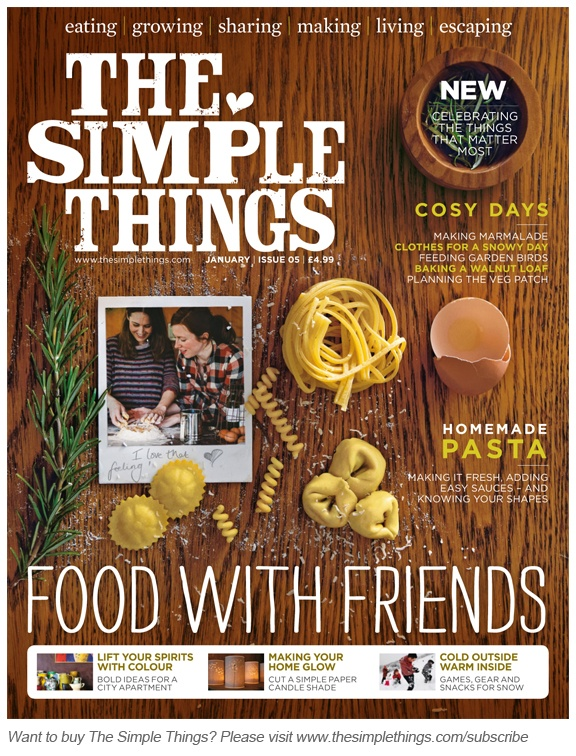 The Simple Things / magazine cover / editorial design / magazine design