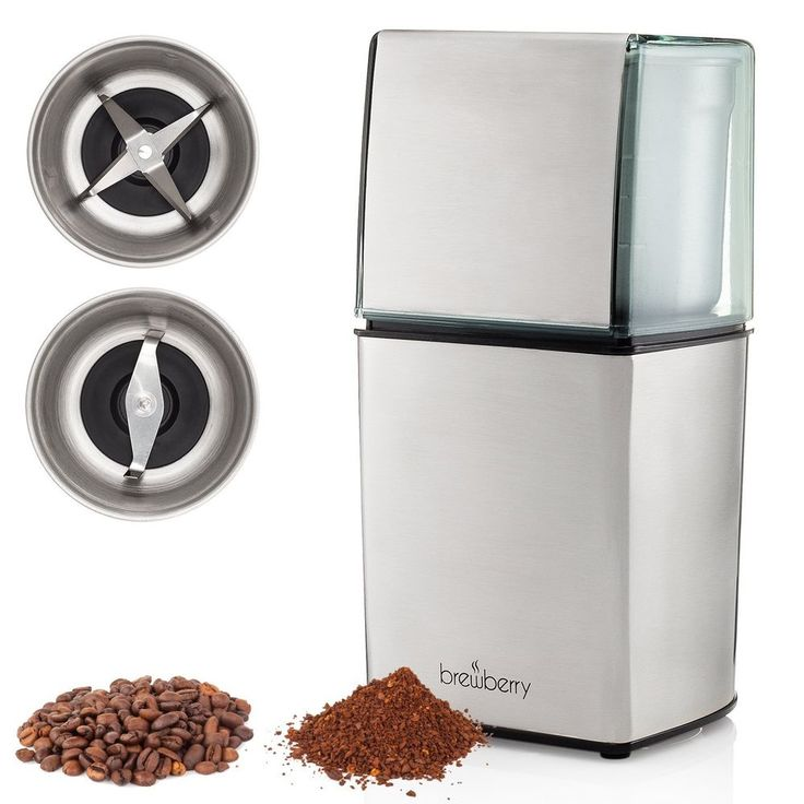 Electric Coffee Grinder Seeds Spices Beans Nuts Herbs Mill Stainless Steel Cups