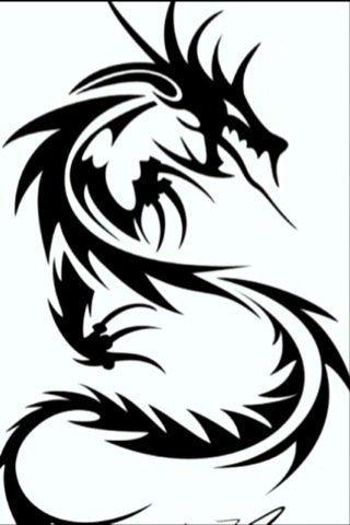 Dragon Art Black And White - Cliparts.co
