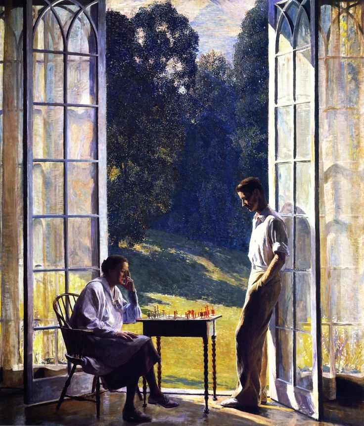 Daniel Garber (American, 1880 -1958) Mother and Son, 1933.