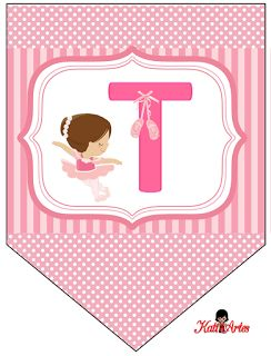 Banderines de Ballerina.   Oh my Alfabetos!
