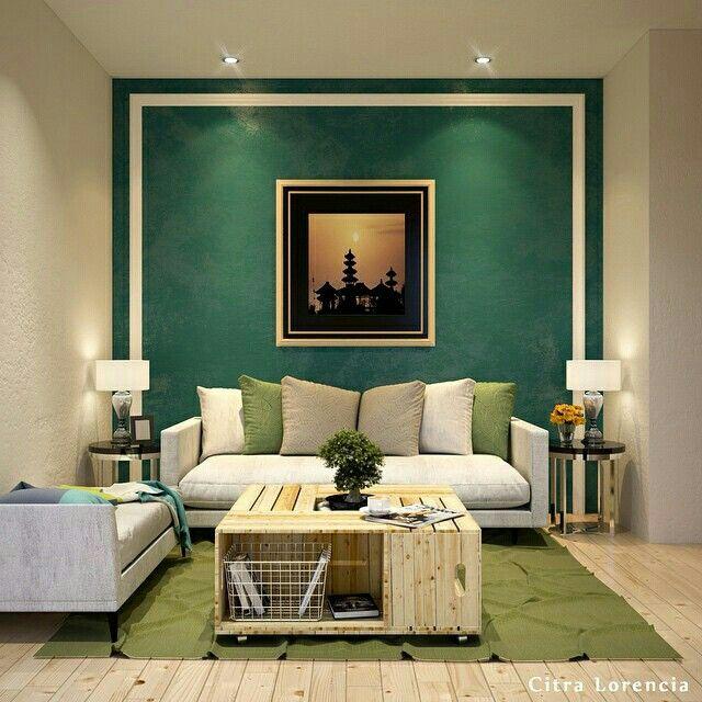 Green livin room
