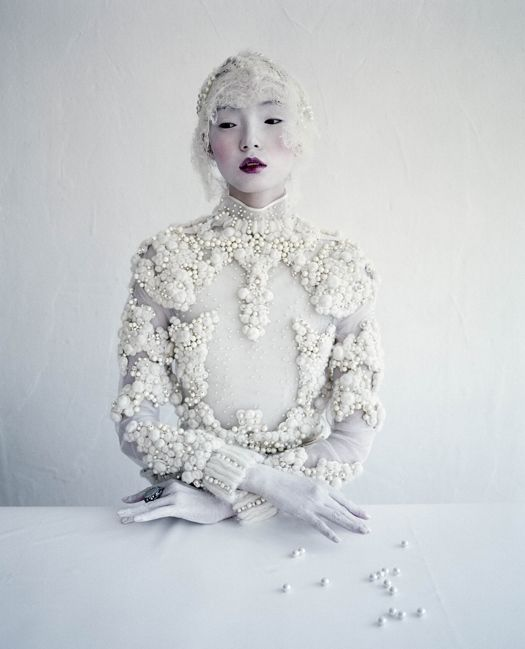 Xiao Wen Ju wears Givenchy Haute Couture F/W 2011 in 'Magical Thinking' shot by Tim Walker for W March 2012