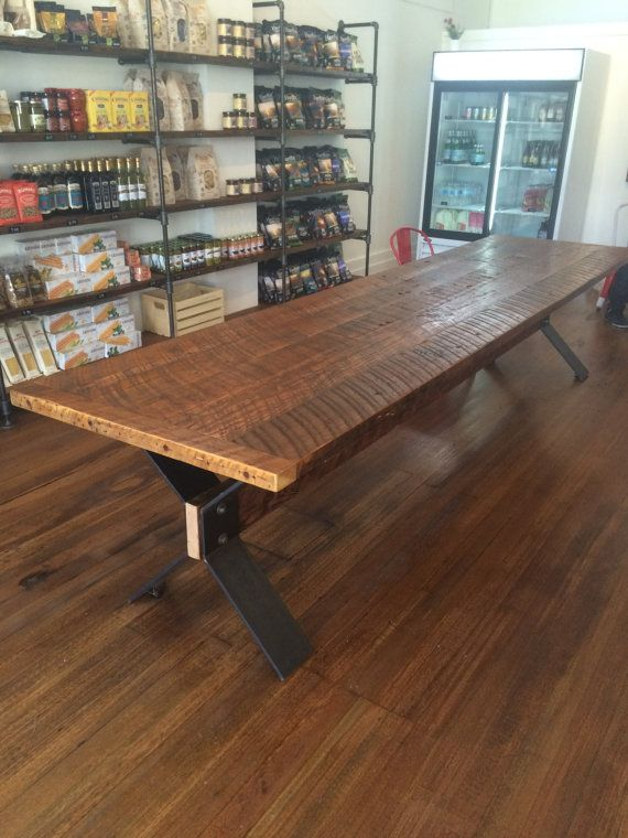 Reclaimed Fir Harvest Table With Trestle Base 12 X 3 *Handcrafted From  Locally Salvaged Douglas Fir From A Local Barn   Interesting Table