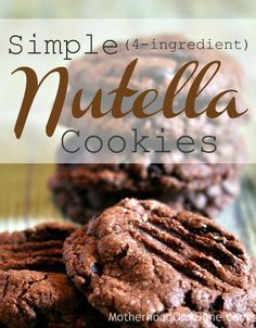This easy Nutella cookie recipe is so easy to make and just has 3 ingredients (or 4 if you use chocolate chips).  These are perfect for a party or other event when you need something quick to make!