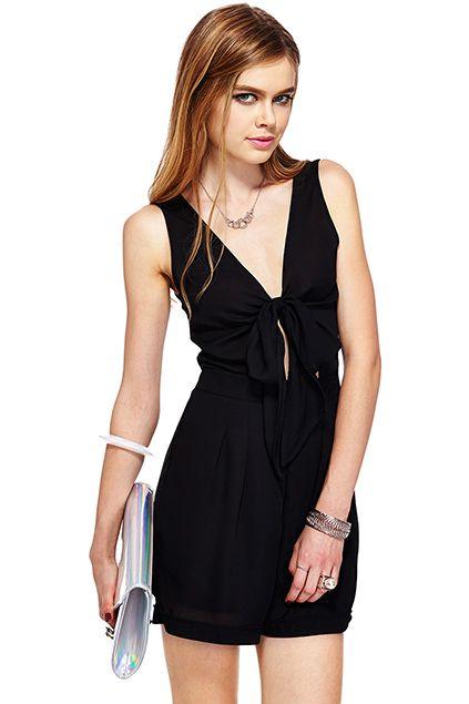 ROMWE | ROMWE Self-tied Sheer Black Sleeveless Playsuits, The Latest Street Fashion  #Romwe