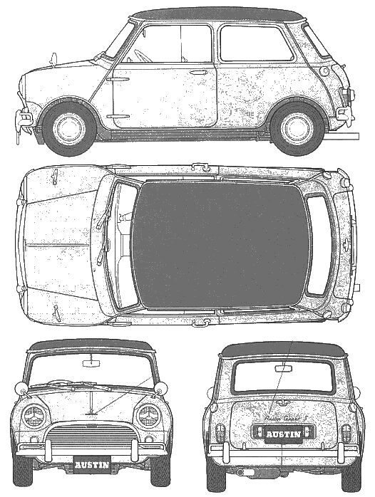 Austin Mini Cooper 1275 templates views