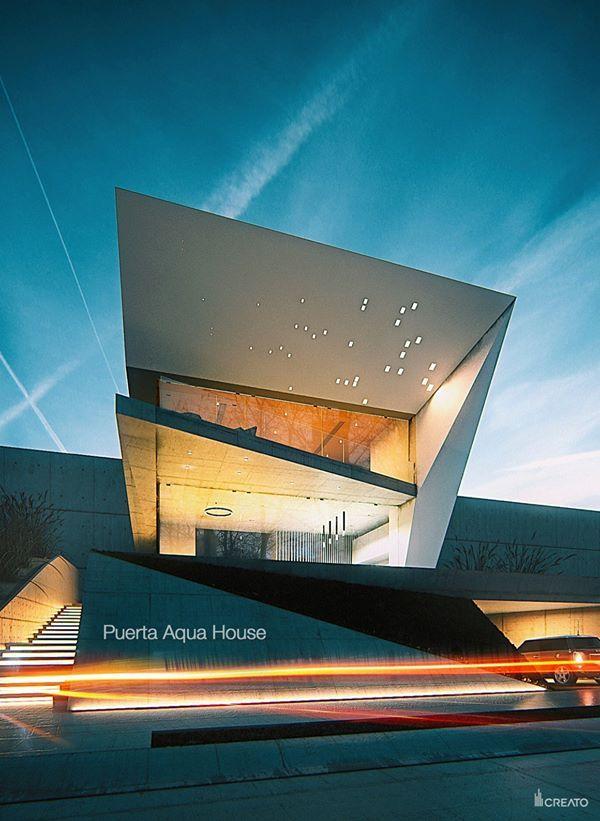 #architecture #contemporary #luxury #modern #Mexico #emirates #design #creato #villa #home #facade #entrance  contacto@creatoarquitectos.com