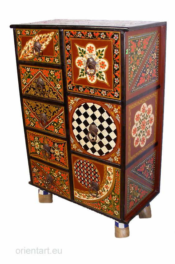 Sweet Pieces Of Hand  Painted And Hand Carved Furniture Solid Wood From  Afghanistan. Www