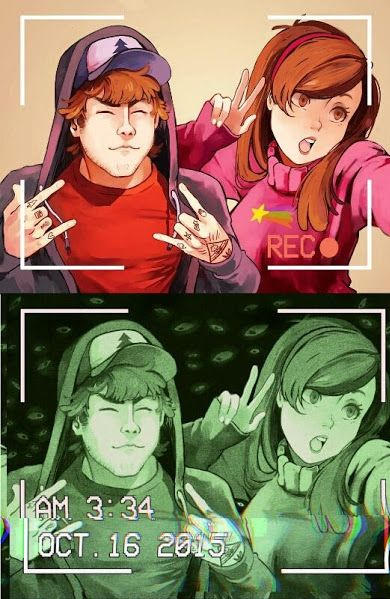 Adult Dipper and Mabel