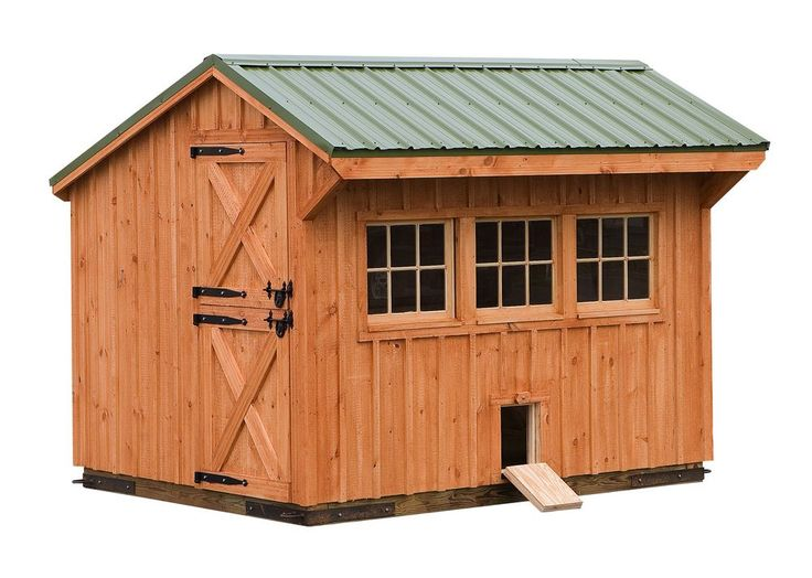 Slant roofed coops slant roof chicken coop 8 10 quaker for Quaker barn home designs
