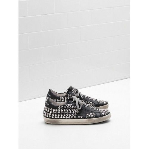 Golden Goose Super Star Sneakers Soldes - Pas Cher Golden Goose Super Star Femme GGDB Sneakers Noir