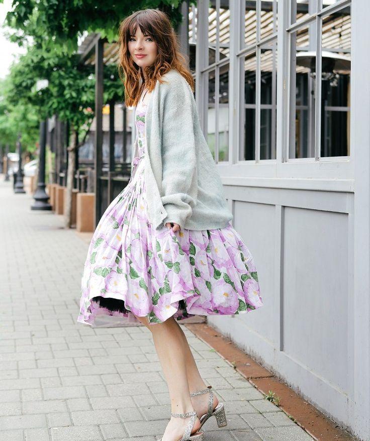 свежий ретро цветочный узор старинные платья