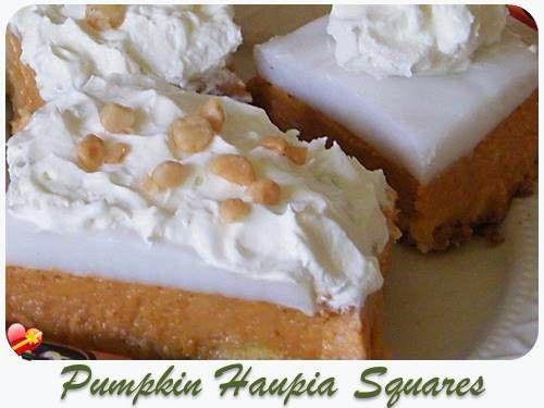 Pumpkin Haupia Squares