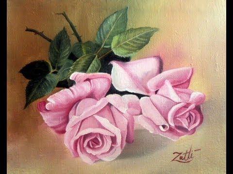 pintando um quadro de rosas parte 4 - YouTube