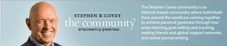 Steven Covey's blog - the author of 7 habits of highly effective people
