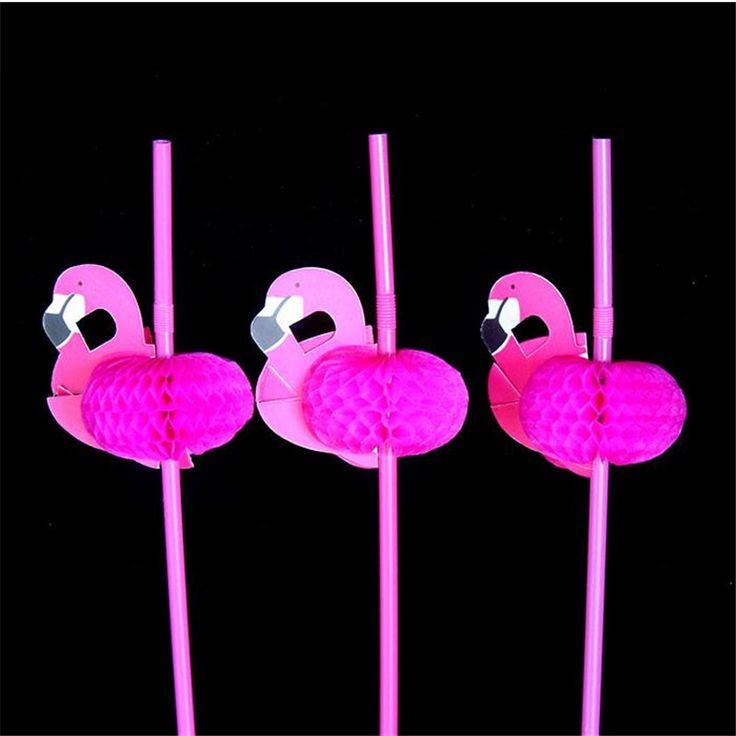50 pcs Flamingo sur Papier Pailles De Mariage d'anniversaire de Fiançailles Hawaiian Luau Décoration Tropical Boissons thé articles de fête faveurs dans   de   sur AliExpress.com | Alibaba Group