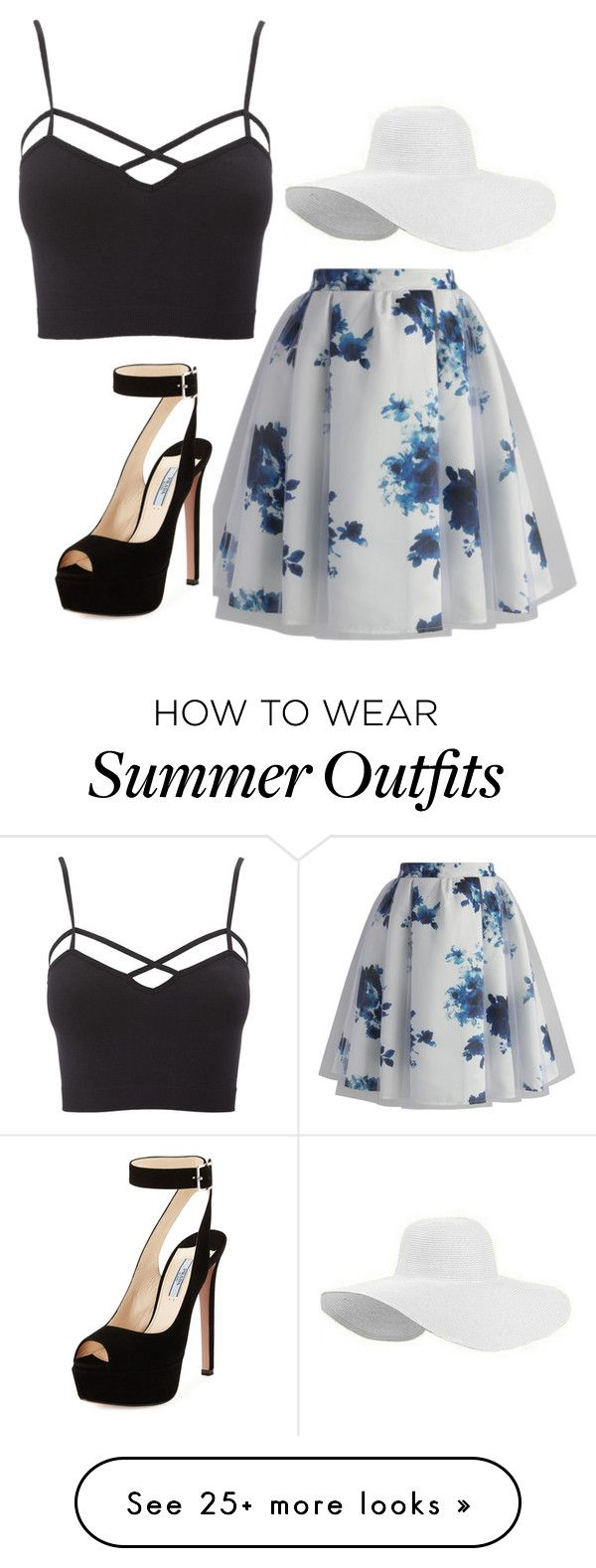 """""""Summer outfit"""" on Polyvore featuring Chicwish, Charlotte Russe and Prada"""