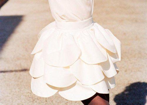 Petal Skirt. Reminds me a little of my homecoming dress! :D
