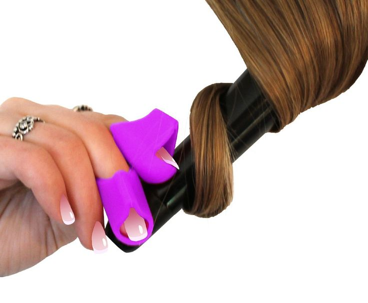 Heat Resistant Finger Cots for Styling Wand, Curling Iron, Hot Fusion Hair Bonding Adhesives, Extension Installation, Help Prevent Finger Burns, Heat Glove Alternative for Styling Tools (Purple)