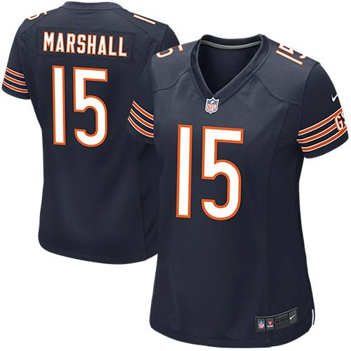 Nike Brandon Marshall Chicago Bears Women's Game Jersey – Navy Blue