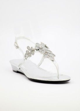 Wedding flats http://www.shopzoey.com/Silver-Evening-shoes-with-flat-heels-Style-800-21.html