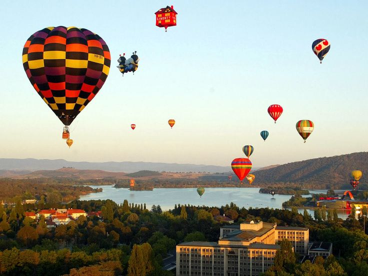 Canberra annual balloon festival - usually held in March