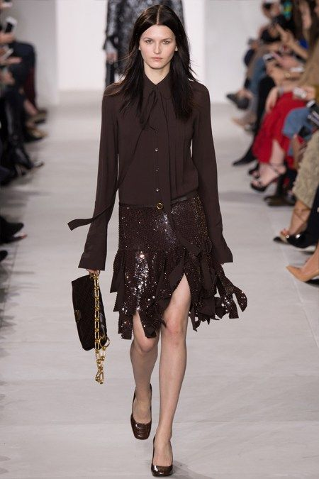 Юбка и блузка коричневого цвета Майкл Корс