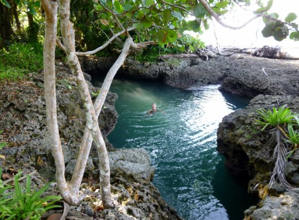 The coral pool in Cahuita Costa Rica