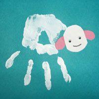 Handabdruck-Schaf