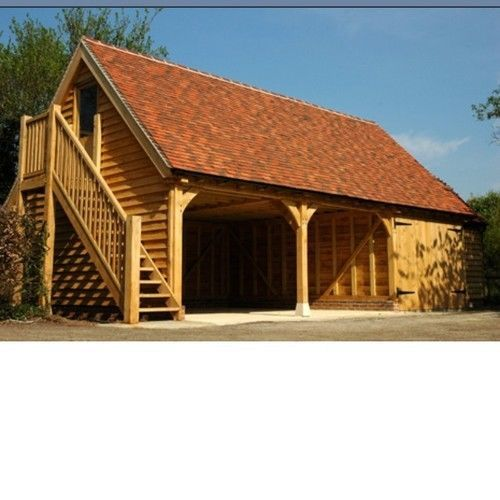 Wooden garage together with the carport can be built very quickly. For more information at www.quick-garden.co.uk
