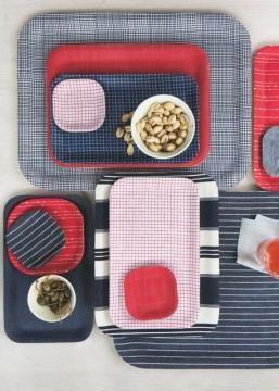 Fabric Laminated Trays DIY #designeveryday
