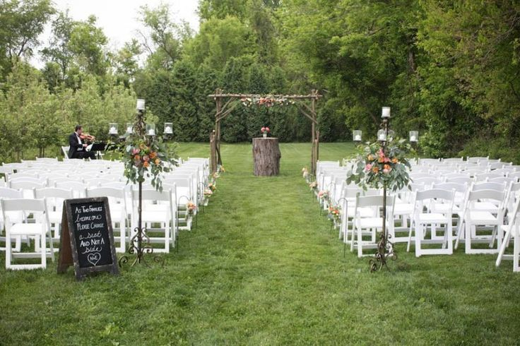 Beautiful outdoor wedding ceremony idea