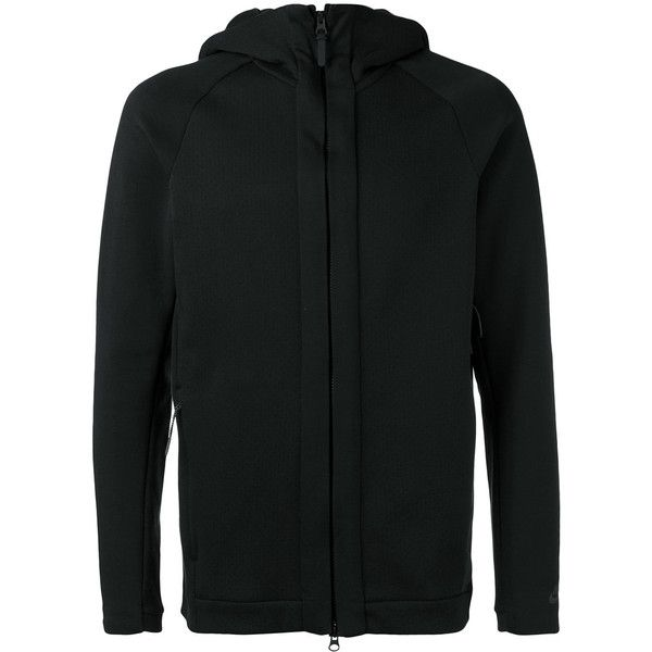 Nike zip hooded cardigan (1.758.900 IDR) ❤ liked on Polyvore featuring men's fashion, men's clothing, men's sweaters, black, mens hooded sweater, mens cardigan sweater, mens zipper sweater, mens zip cardigan sweater and mens full zip sweater