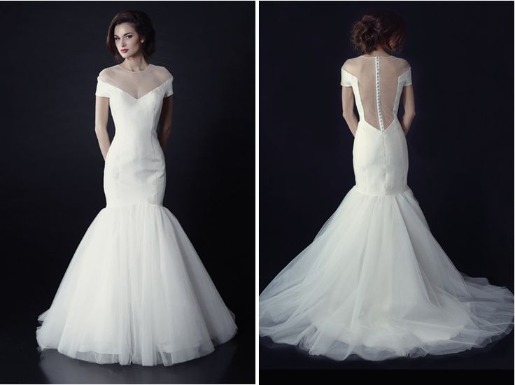 Heidi Elnora Fall 2014 Wedding Dress Collection - Georgia Bourgeois #weddingdresses #bridal collections