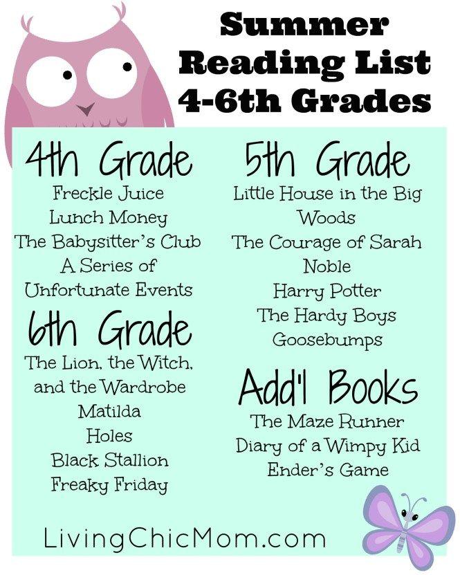 Summer Reading List K-6th Grades - Living Chic Mom