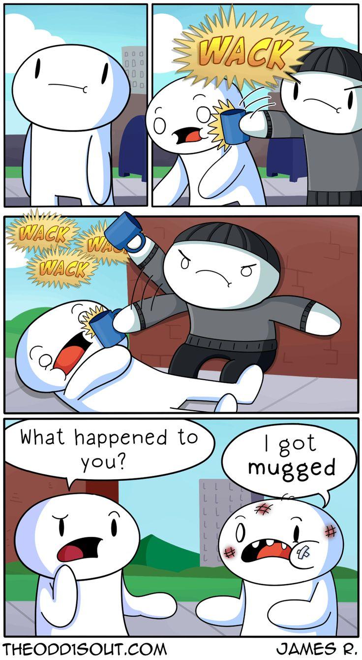 """Theodd1sout :: """"Mugged""""   Tapastic Comics - image 1"""