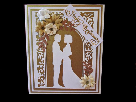 Handmade Wedding Anniversary Greeting Card / by DreamsByTheRiver, $6.00