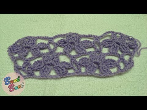 CROSETAT - Model Flori simple(Simple garden flowers Crochet)