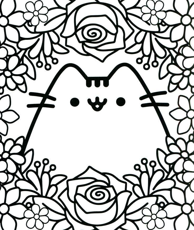 Cat Colouring Pages Japan Pusheen Coloring Pages Cute Coloring Pages Cat Coloring Page