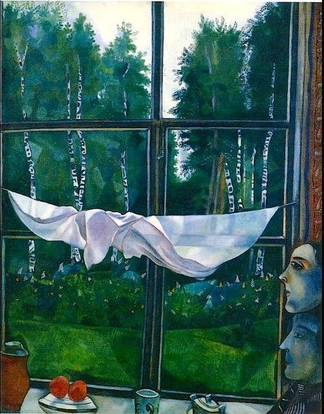 Marc Chagall, Window in the Country on ArtStack #marc-chagall #art