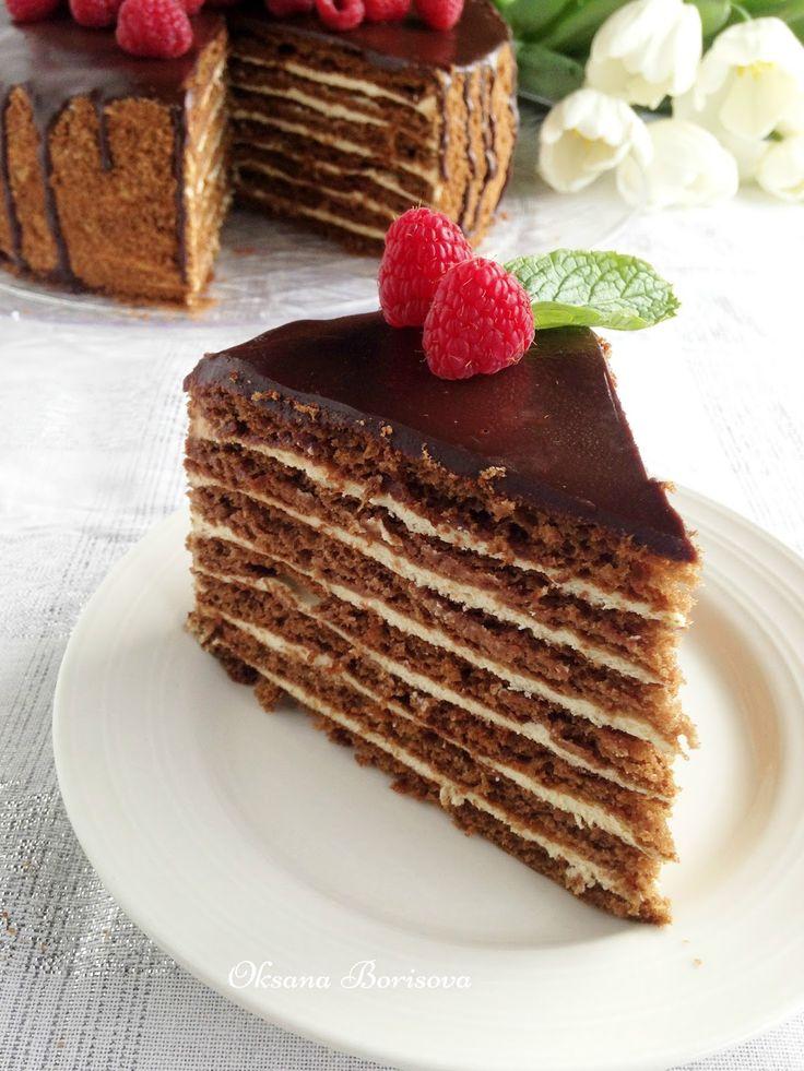 Вкуснейших рецепт для любителей медовых тортиков! Рекомендую! Тесто: 100 г сливочного масла 1 стакан сахара 2 ст.л меда с верхом 2 ...