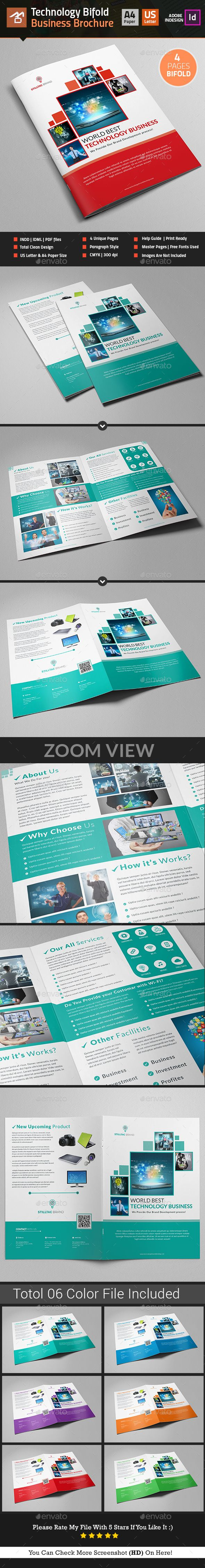 Technology Bifold Brochure Template InDesign INDD. Download here…